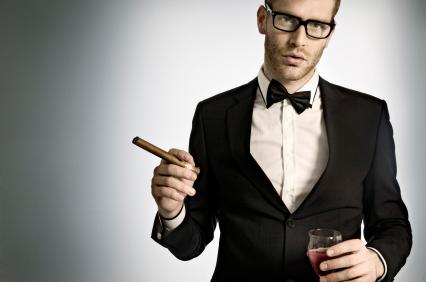 Modny czarny garnitur